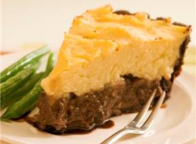 Bitter Chocolate Venison Pie with Potato and Celeriac Topping
