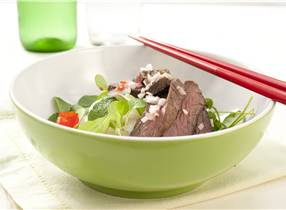 Venison and Rice Stick Noodle Salad