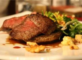 Al Brown's seared venison salad with pinot reduction