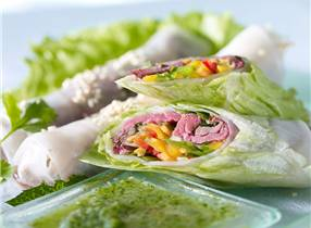 New Zealand Venison Vietnamese Style Summer Rolls with Nam Prik