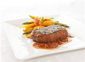 Venison steak with Jack Daniels whiskey sauce