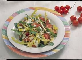Gourmet salad with venison