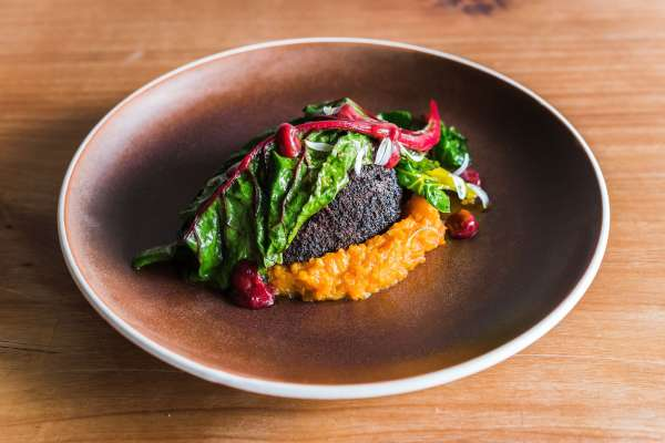 Tom Hishon's Braised venison with Kumara and Tamarillos